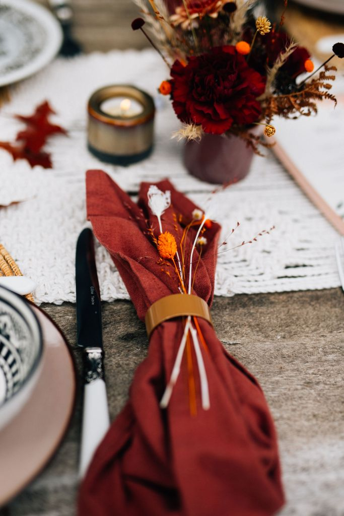 décoration de table Mariage gipsy Folk bohème