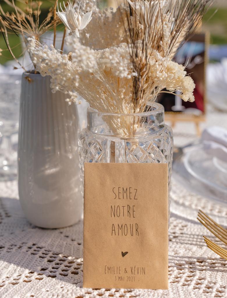 table de mariage bohème