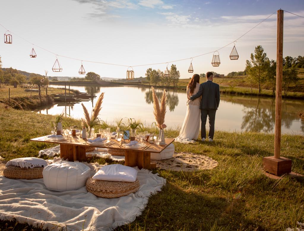 décoration de table mariés