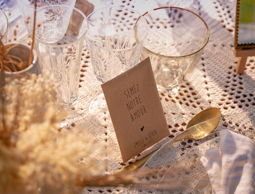 Décoration de table bohème mariage pampa