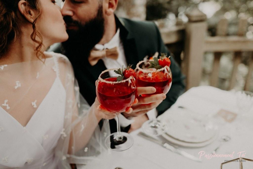 Cocktail Mariage intimiste à la montagne