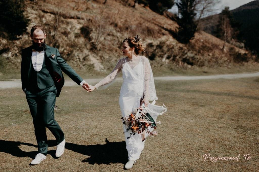 mariage en vert et blanc