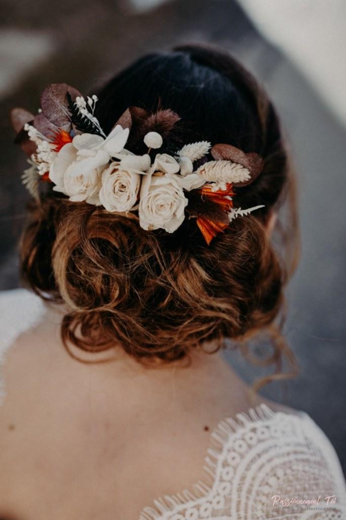 Peigne fleuri mariage