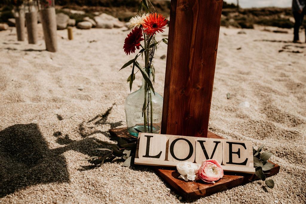décoration de mariage sur la plage