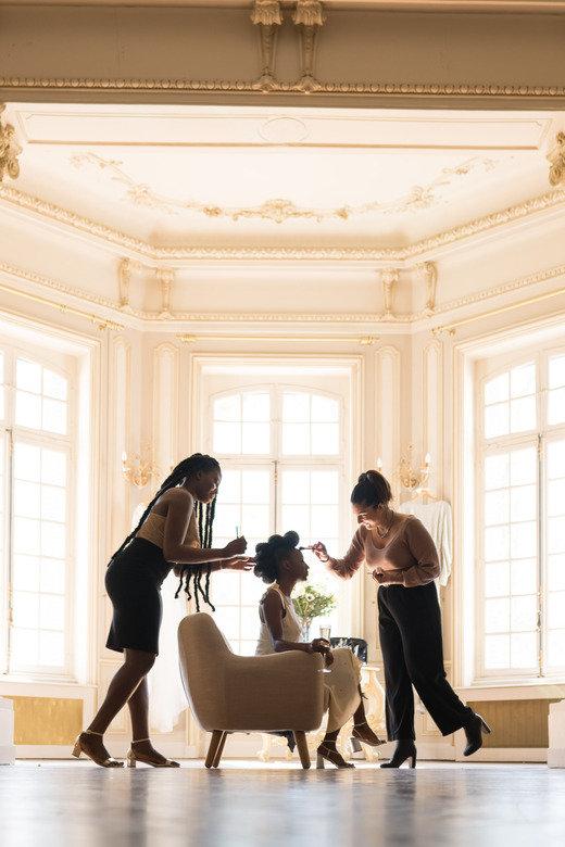 maquillage mariage sur peau noire