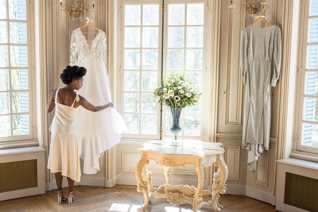 robe de mariée manches longues et dentelles