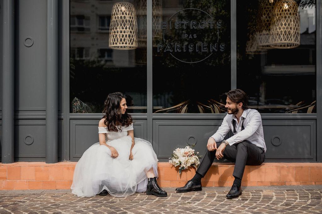 mariage à paris robe et bottines