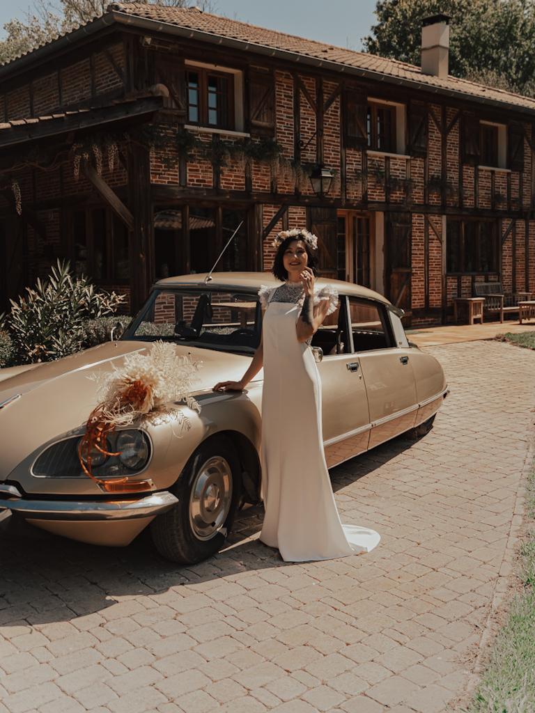 tenue de mariage vintage 70s