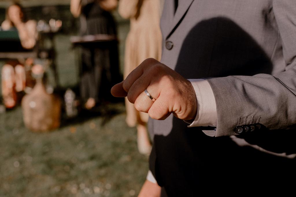 Echange d'alliances mariage