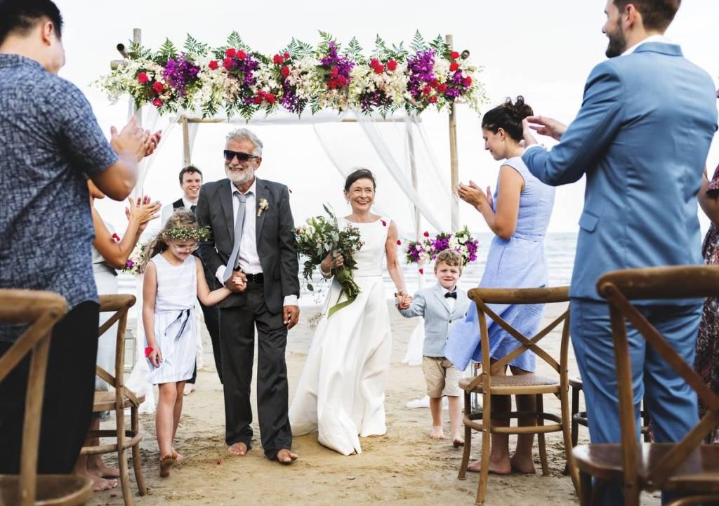 décoration mariage sur la plage
