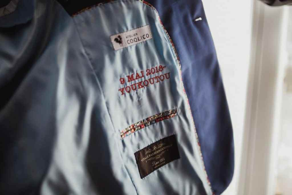 Atelier Coqlico costume sur-mesure personnalisé mariage