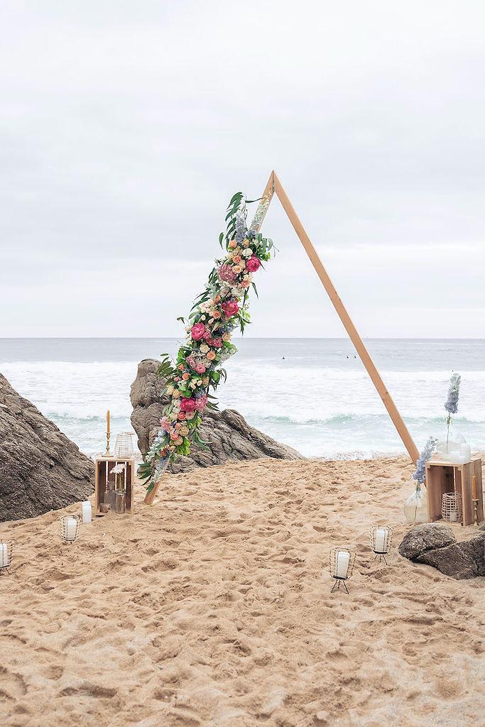 arche de mariage sur la plage