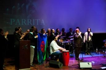 Actuació sorpresa de Parrita en finalitzar l'acte. Judit Valdés