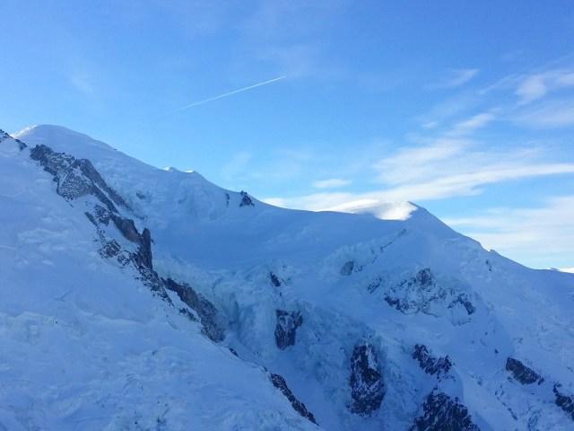 Hiver à Chamonix Mont Blanc - le Mont Blanc depuis l'Aiguille du midi
