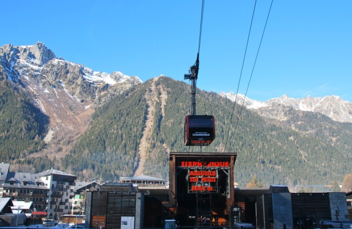 Hiver à Chamonix Mont Blanc - téléphérique
