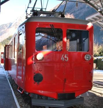 Hiver à Chamonix - Mont Blanc : le train du Montenvers