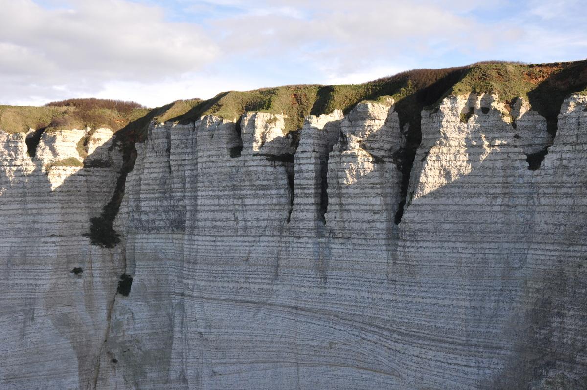 Une journée aux falaises d'Etretat - détail des falaises