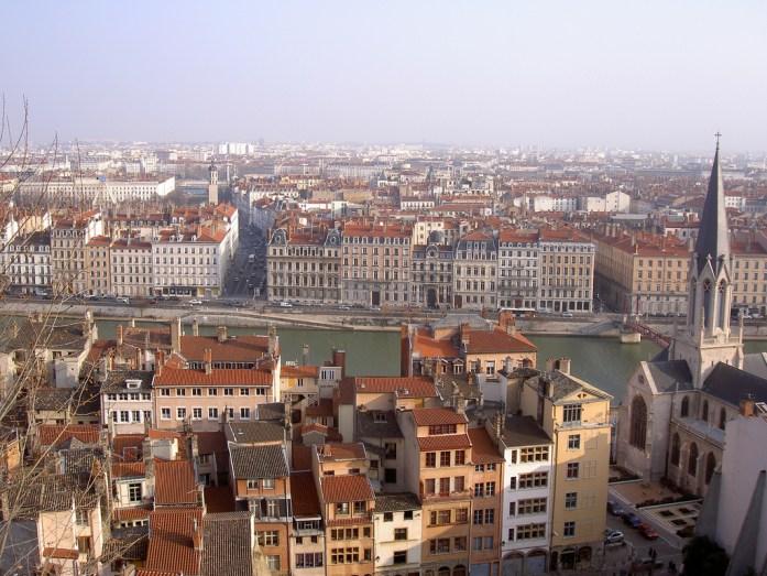 Lyon - vue sur la ville depuis la prison