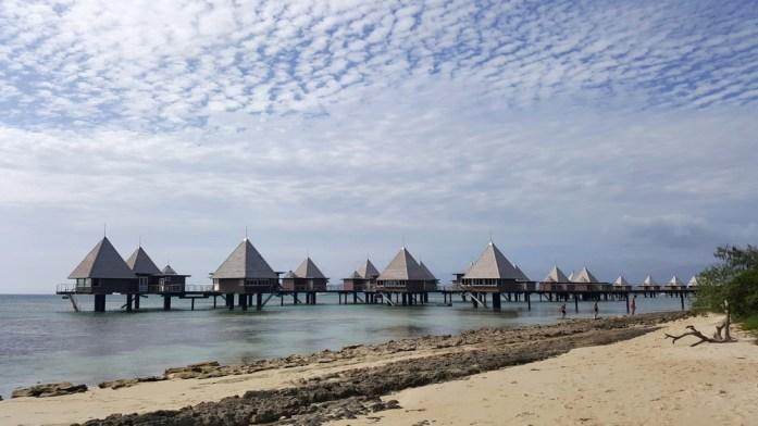 Les bungalows de l'îlot Maître