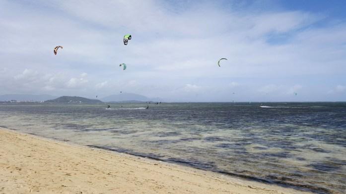 Kitesurf à l'îlot Maître