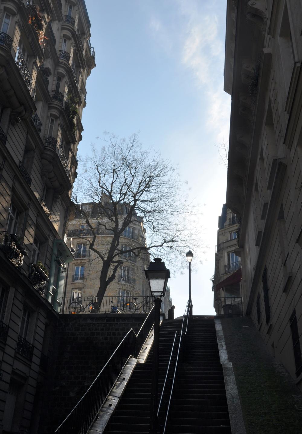 Paris - les escaliers de Montmartre