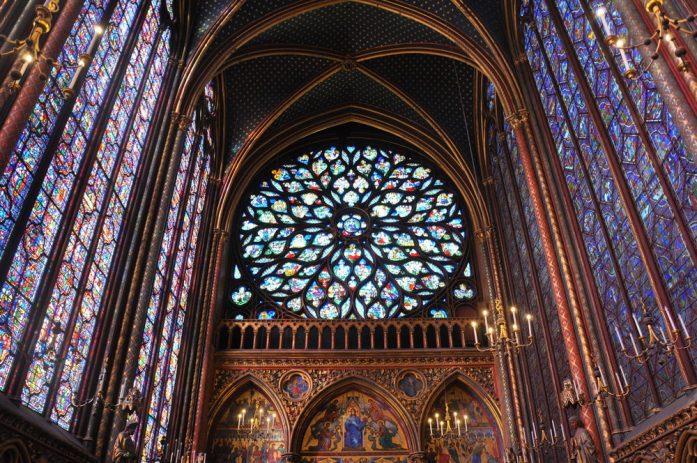 Paris - La rosace de la Sainte Chapelle