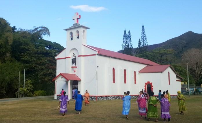Eglise de Hienghène en Nouvelle Calédonie