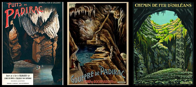 Affiches anciennes du gouffre de Padirac