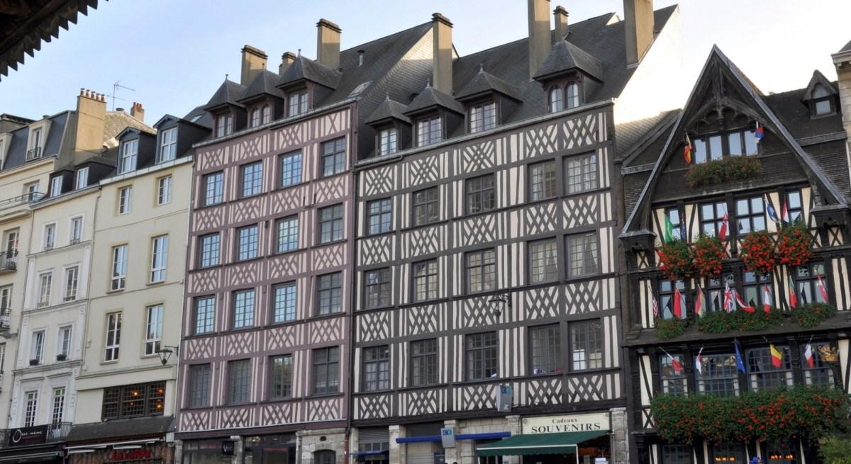 Un week-end à Rouen : les colombages de la place du Vieux Marché