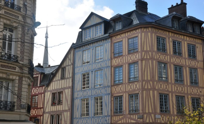 Un week-end à Rouen : maisons à colombages