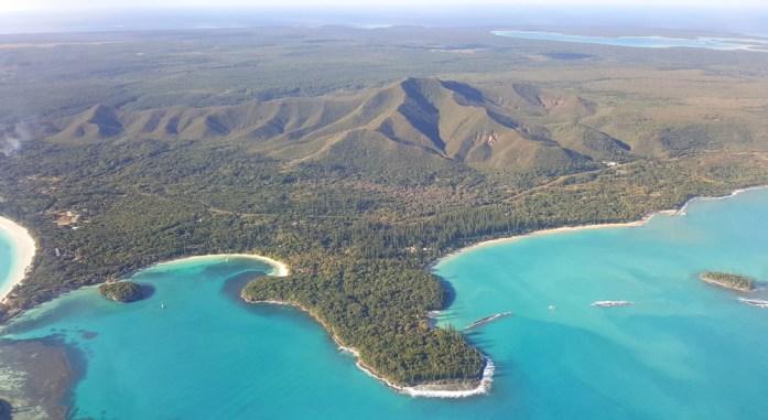 Îles de Nouvelle Calédonie - île des pins vue du ciel