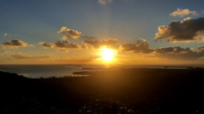 Les îles de Nouvelle Calédonie - vue depuis le pic N'Ga