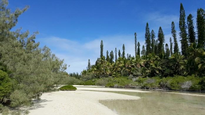 Les îles de Nouvelle Calédonie - rivière de sable d'Oro