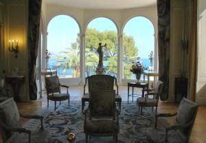 Cap Ferrat - salon de la villa Ephrussi de Rothschild