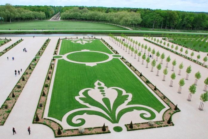 Château de Chambord - jardins à la française