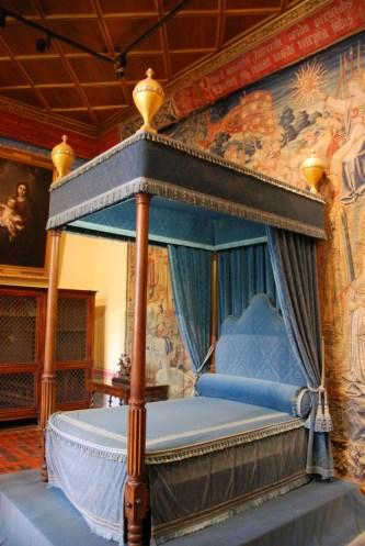 Circuit des châteaux de la Loire - chambre à coucher de Chenonceau