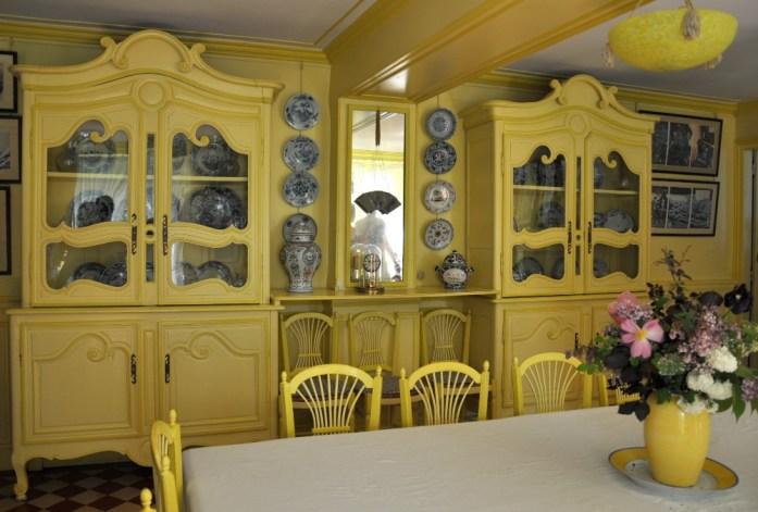 Une journée autour de Giverny - salle à manger de Monet