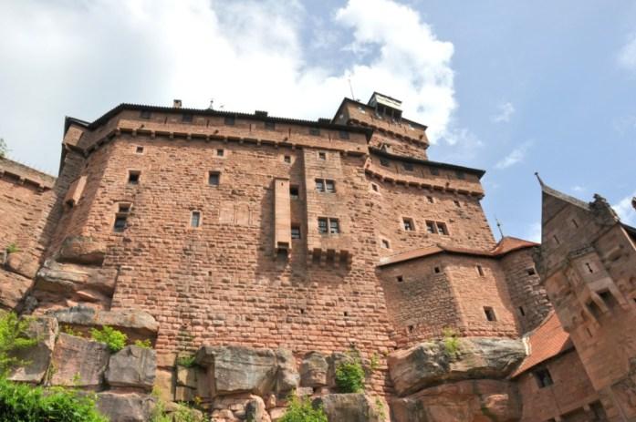 Le Haut Koenigsbourg en Alsace - façade