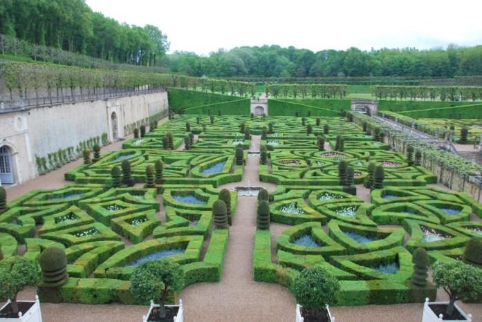 Jardins du château de Villandry - les jardins d'ornement