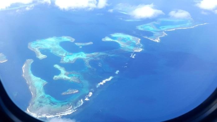 La Marinière en Voyage - lagon de Calédonie vu du ciel