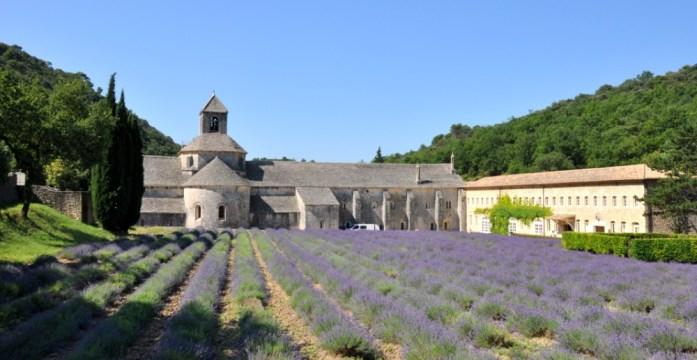 L'abbaye de Sénanque au milieu de la lavande
