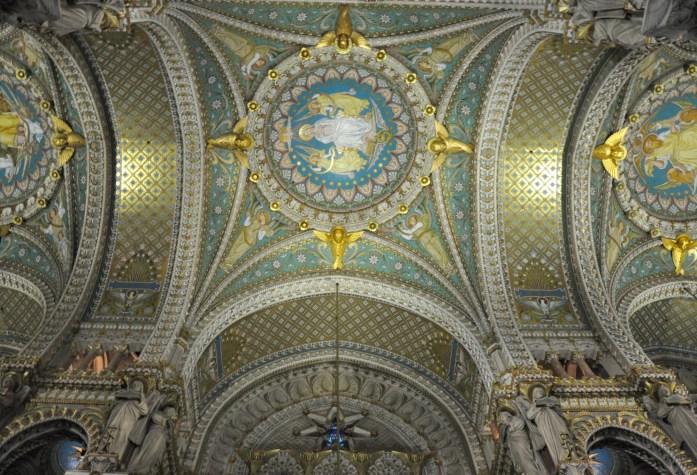 La Marinière en Voyage - Plafond de la Basilique de Fourvière