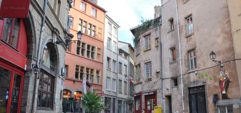 Place à Saint Georges dans le Vieux Lyon