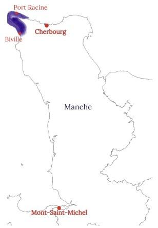 Carte de la Hague
