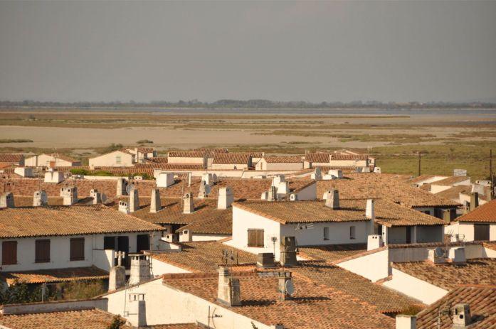 Camargue - panorama sur les Saintes-Maries-de-la-Mer