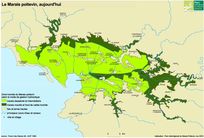 Carte du Marais poitevin