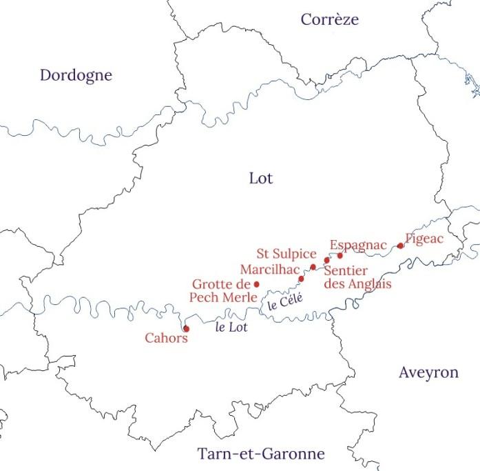 Carte de la vallée du Célé