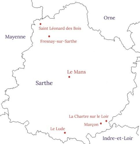 Carte - que visiter en Sarthe ?