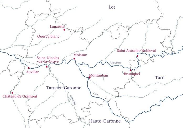 Visiter le Tarn et Garonne - lieux d'intérêt