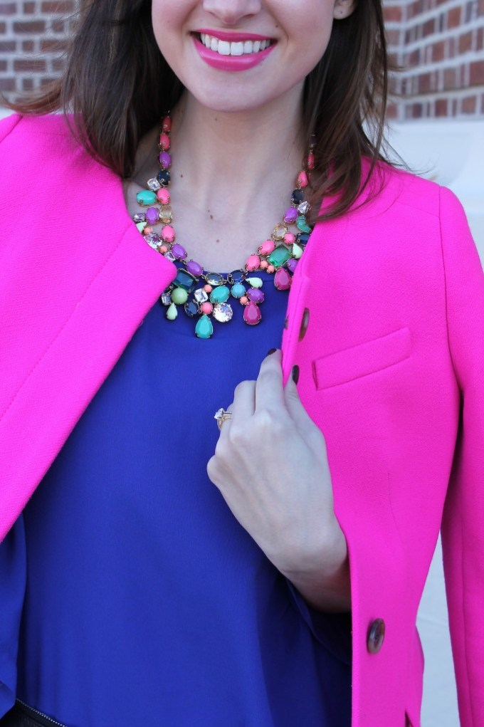 Pink, Violet & Candy Colored Necklace